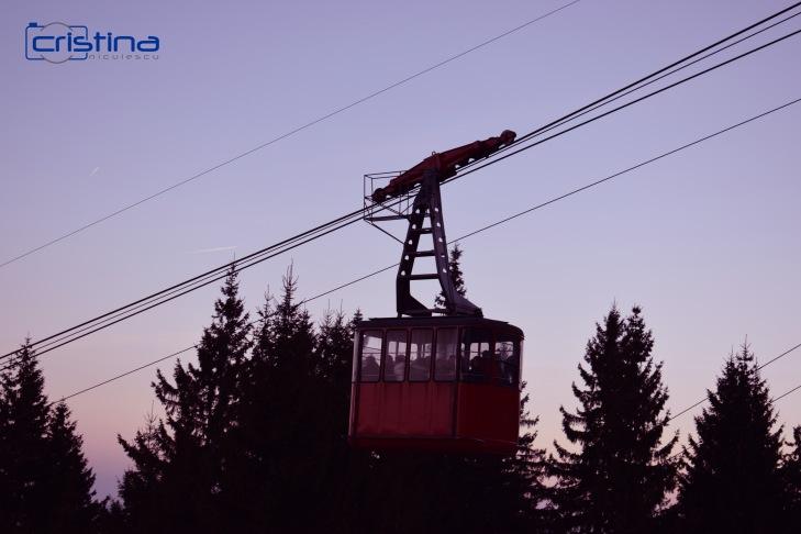 Peisaj munte telecabina